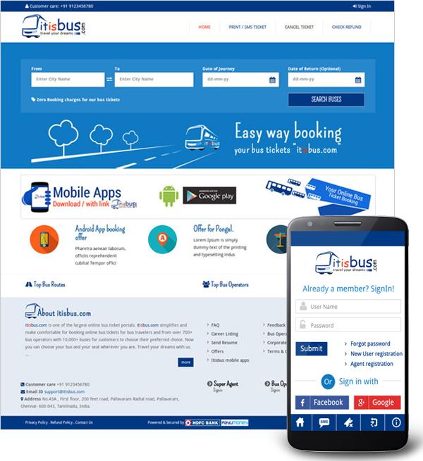 itisbus itbus com, online bus booking system, bus booking
