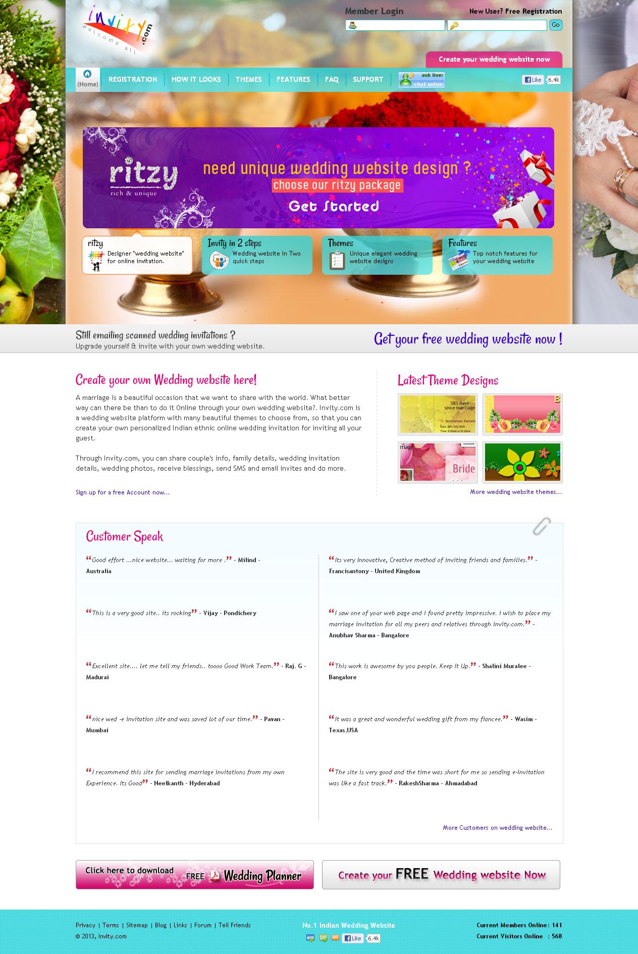 Invity - Online Wedding Website Invity, Wedding Website, Indian ...